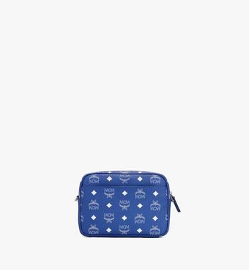 MCM Klassik Crossbody in Visetos Blue MMRASKC07H1001 Alternate View 3