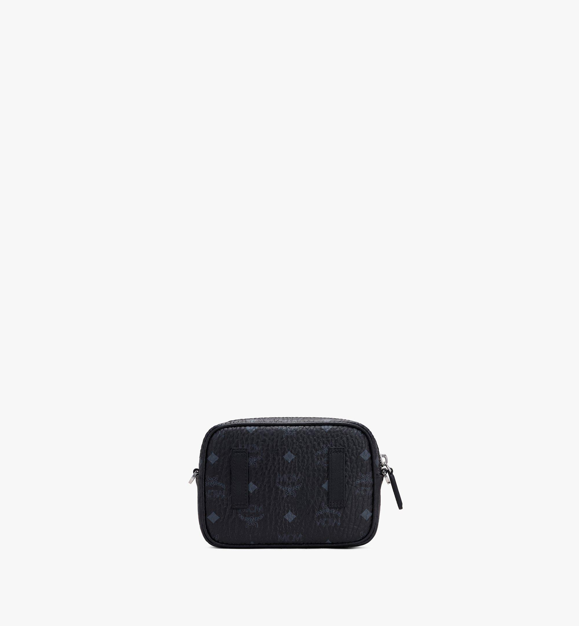 MCM Klassik Crossbody in Visetos Black MMRASKC08BK001 Alternate View 2