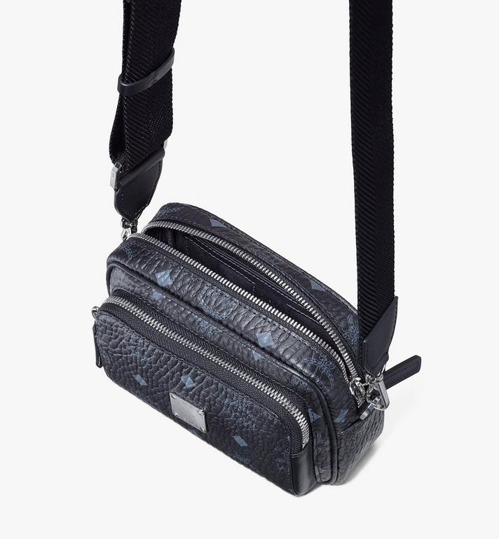 MCM Klassik Crossbody in Visetos Black MMRASKC08BK001 Alternate View 4