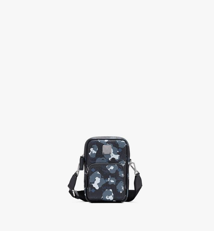 MCM Crossbody Tech Pouch in Floral Leopard Alternate View