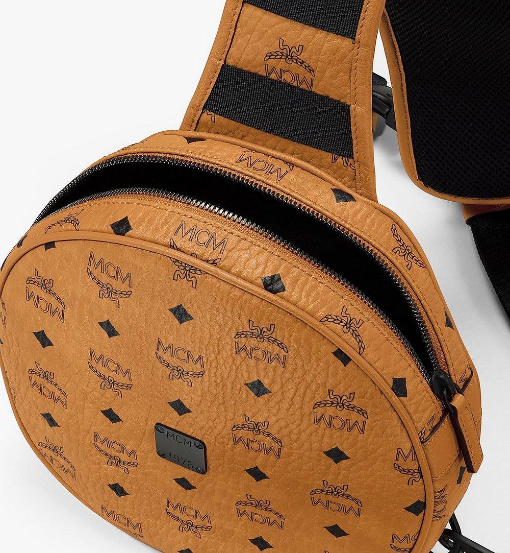 MCM 1976 Circle Crossbody-Tasche in Visetos Cognac MMRASMV01CO001 Noch mehr sehen 3
