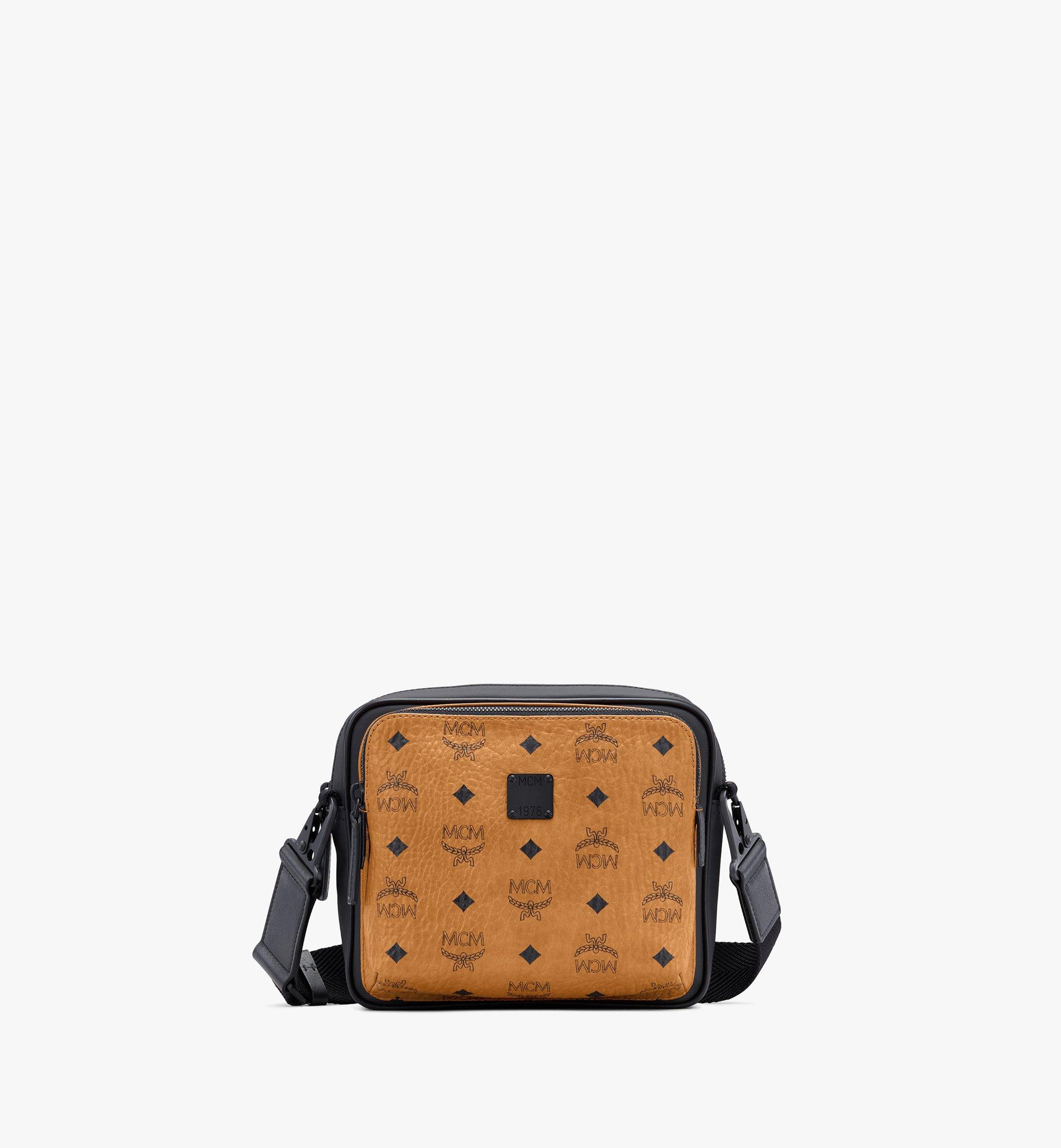 MCM 1976 Square Crossbody in Visetos Cognac MMRASMV03CO001 Alternate View 1