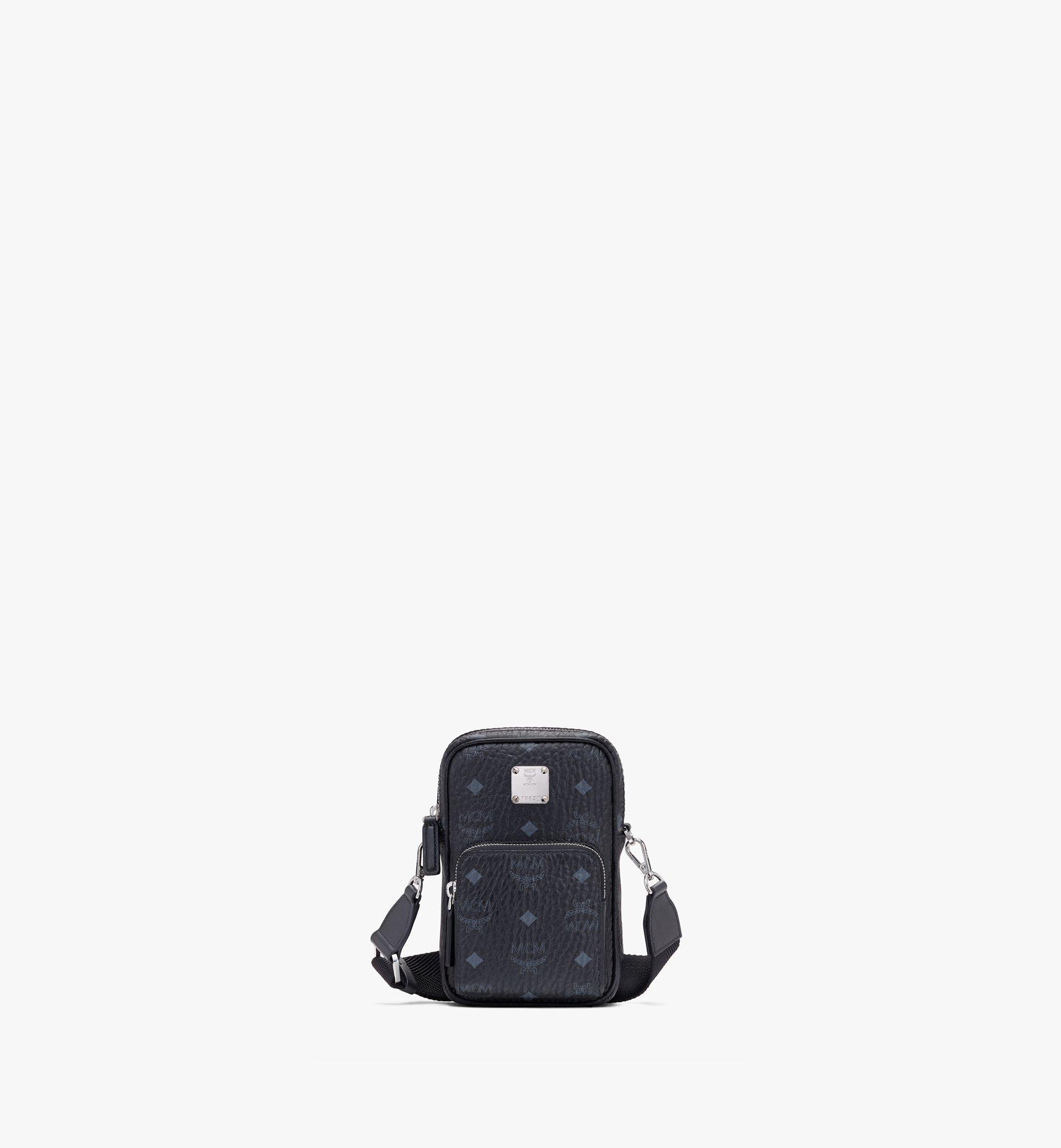 MCM Tech Crossbody in Visetos Black MMRASVI02BK001 Alternate View 1