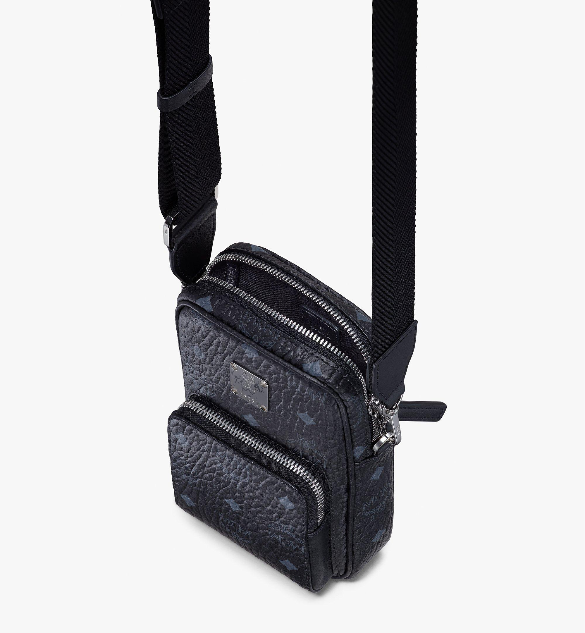 MCM Tech Crossbody in Visetos Black MMRASVI02BK001 Alternate View 4