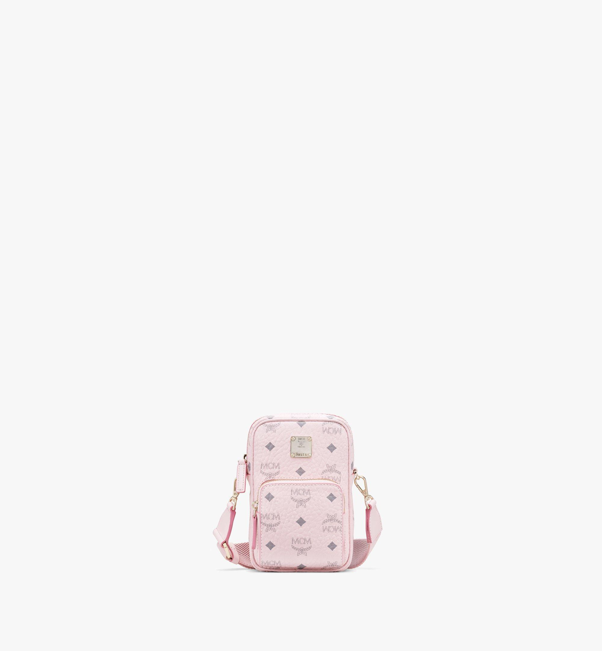 Mini Tech Crossbody Tasche in Visetos Original Rosa | MCM® DE