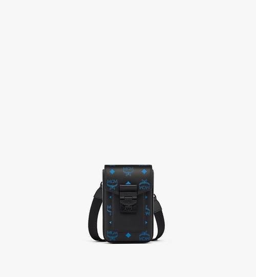 Hochformatige Crossbody-Tasche aus Leder mit Color-Splash-Logo