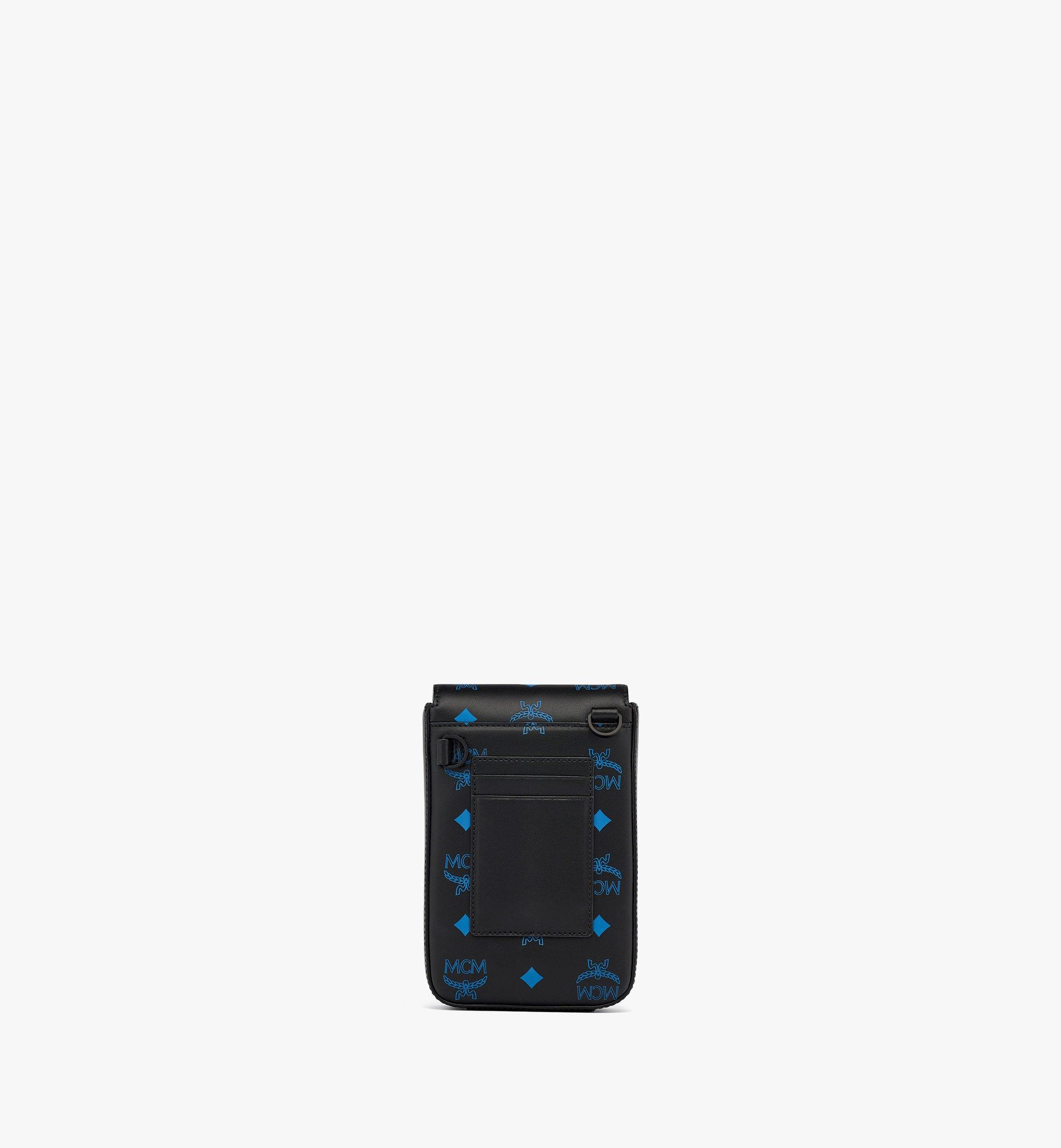 MCM N/S Crossbody in Color Splash Logo Leather Blue MMRBASX04H9001 Alternate View 3