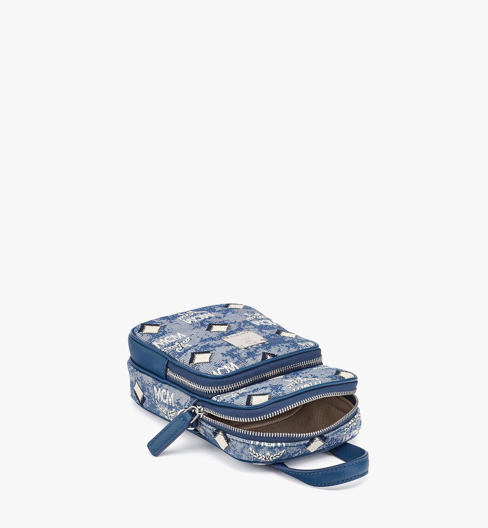 MCM N/S Crossbody Bag in Vintage Jacquard Monogram Blue MMRBATQ02LU001 Alternate View 2
