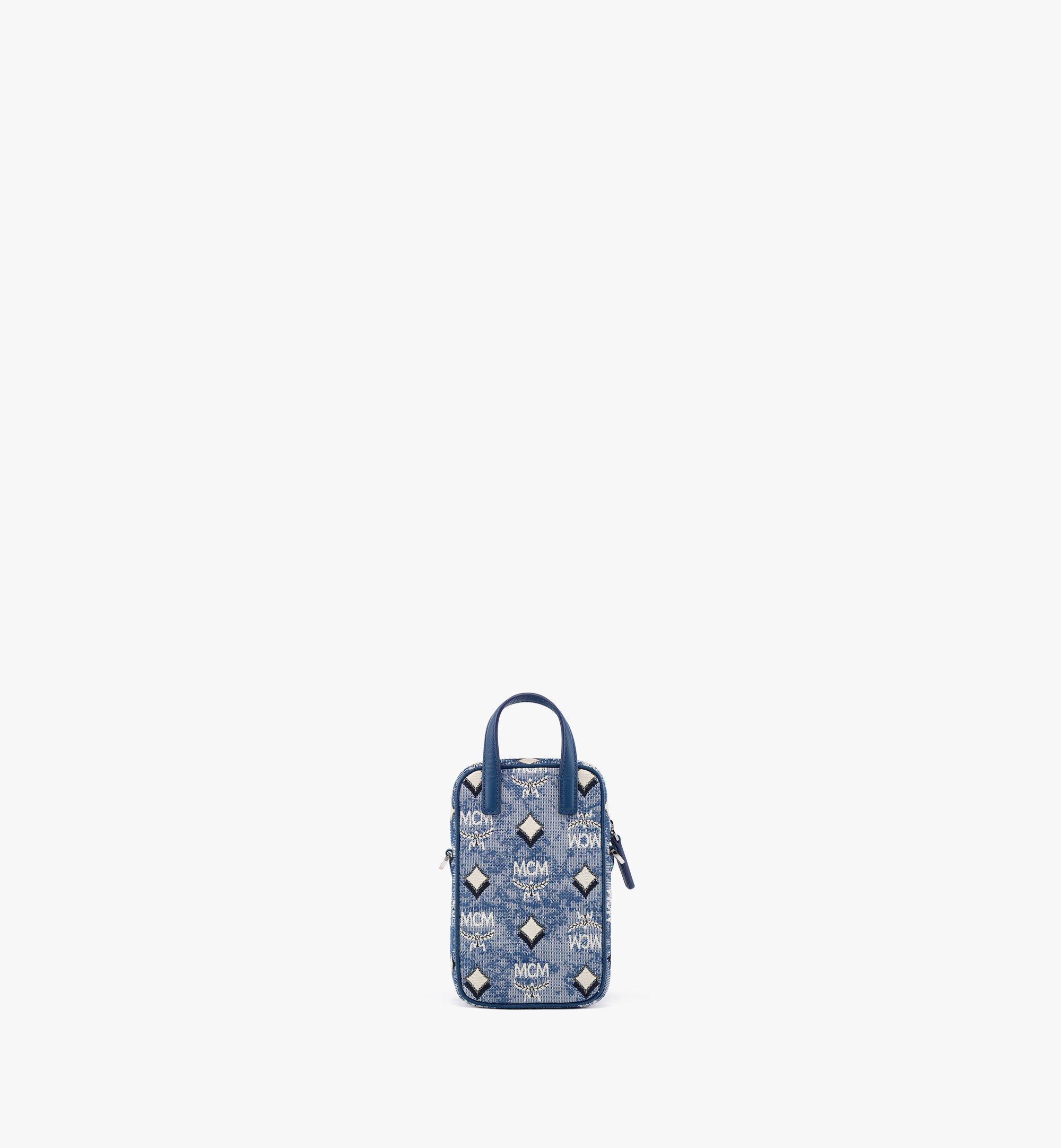 MCM N/S Crossbody Bag in Vintage Jacquard Monogram Blue MMRBATQ02LU001 Alternate View 3