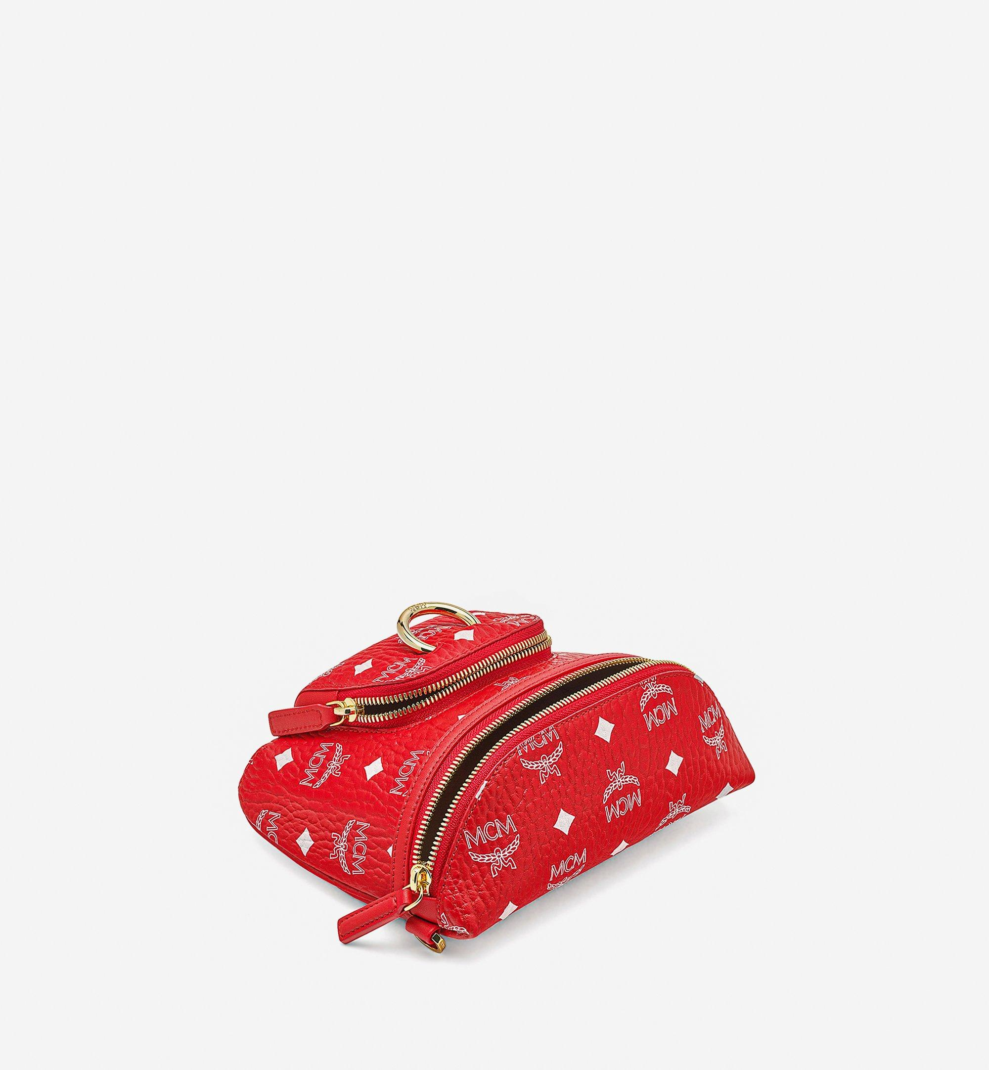 MCM Klassik Crossbody in New Year Visetos Red MMRBSKC01AV001 Alternate View 2