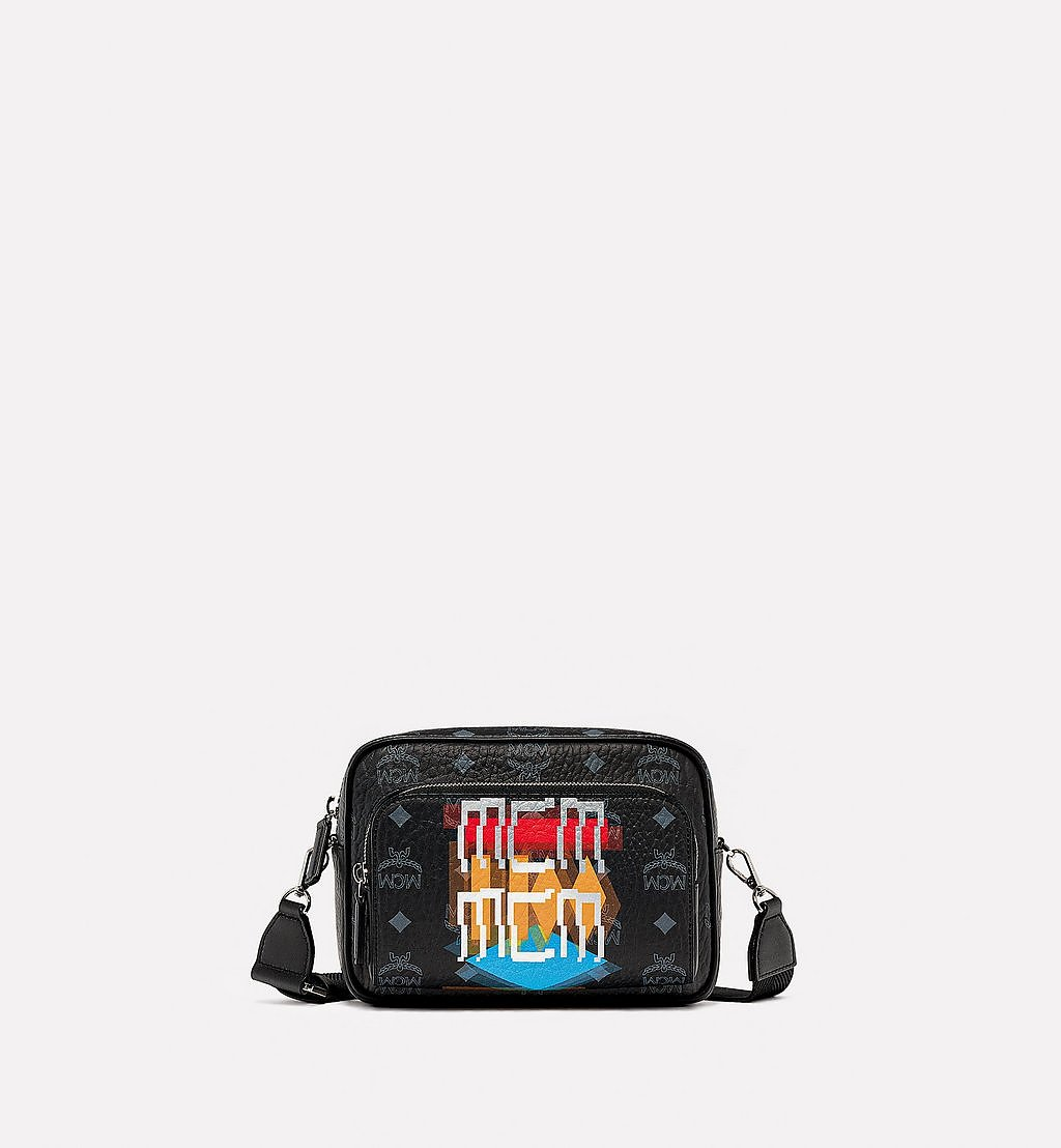 MCM Klassik Crossbody in Geo Graffiti Visetos Black MMRBSKC02BK001 Alternate View 1