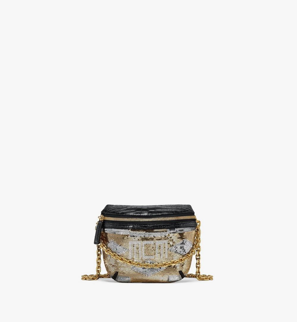 Klassik Crossbody in Geo Croco Sequin Leather 1