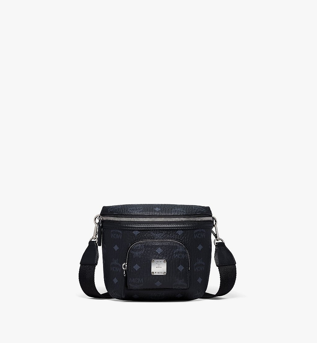 MCM Klassik Crossbody in Visetos Black MMRBSKC07BK001 Alternate View 1