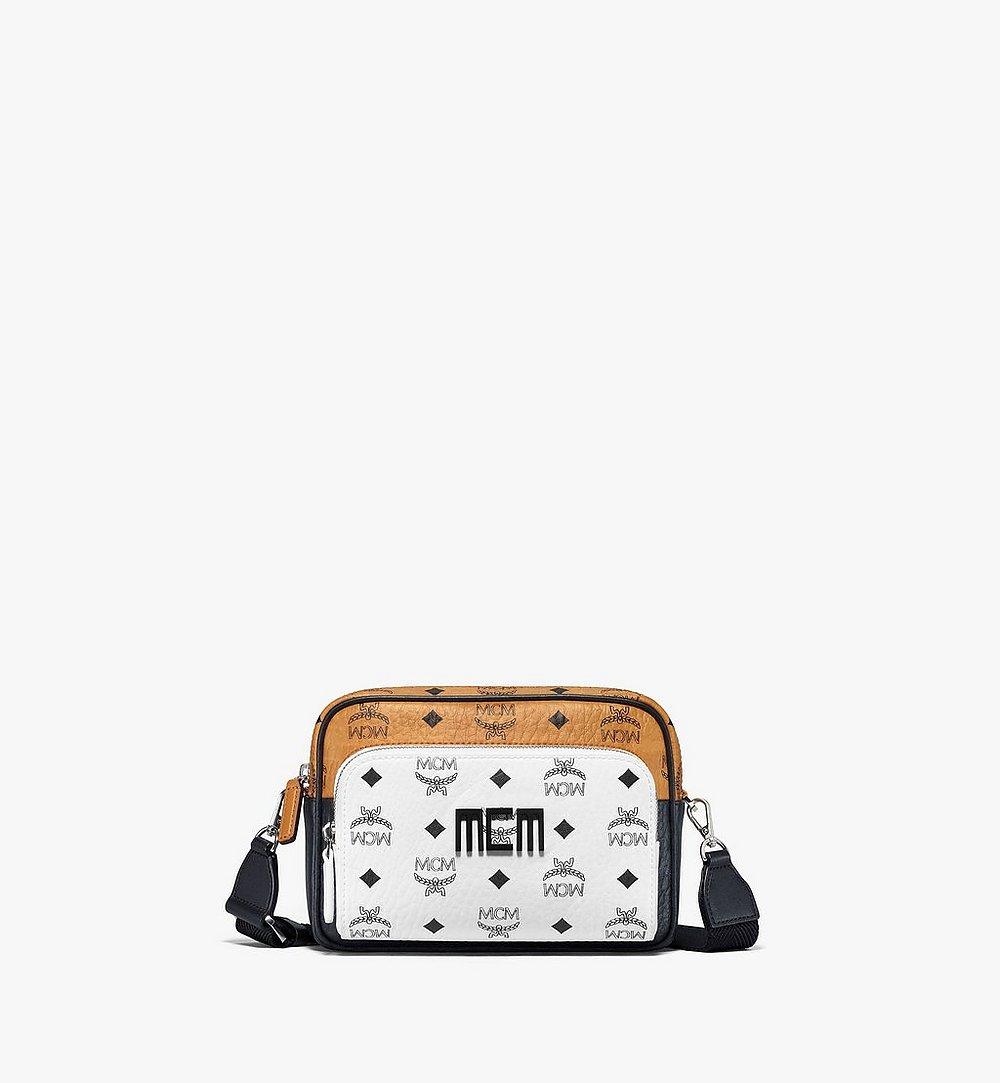 MCM Visetos 混合皮革 Klassik 斜背包 White MMRBSKC09WT001 更多視圖 1