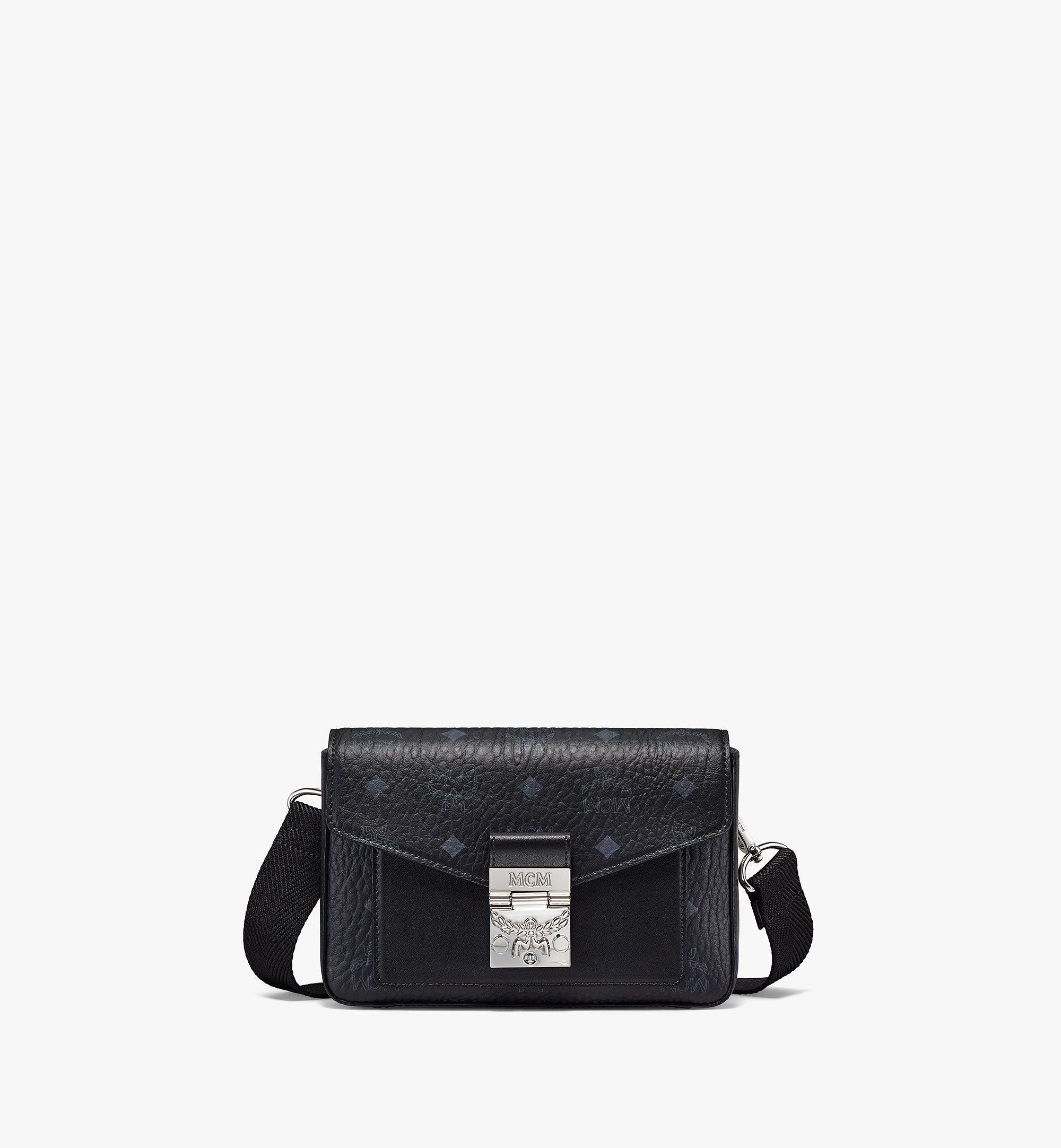 MCM Millie Crossbody-Tasche in Visetos Black MMRBSME03BK001 Noch mehr sehen 1