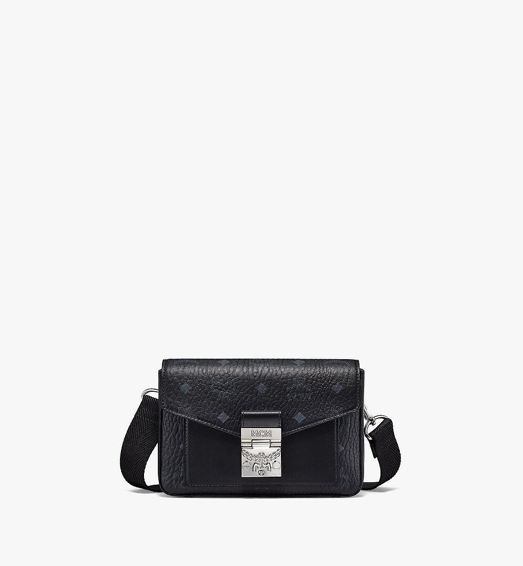 MCM Millie Crossbody in Visetos Black MMRBSME03BK001 Alternate View 1
