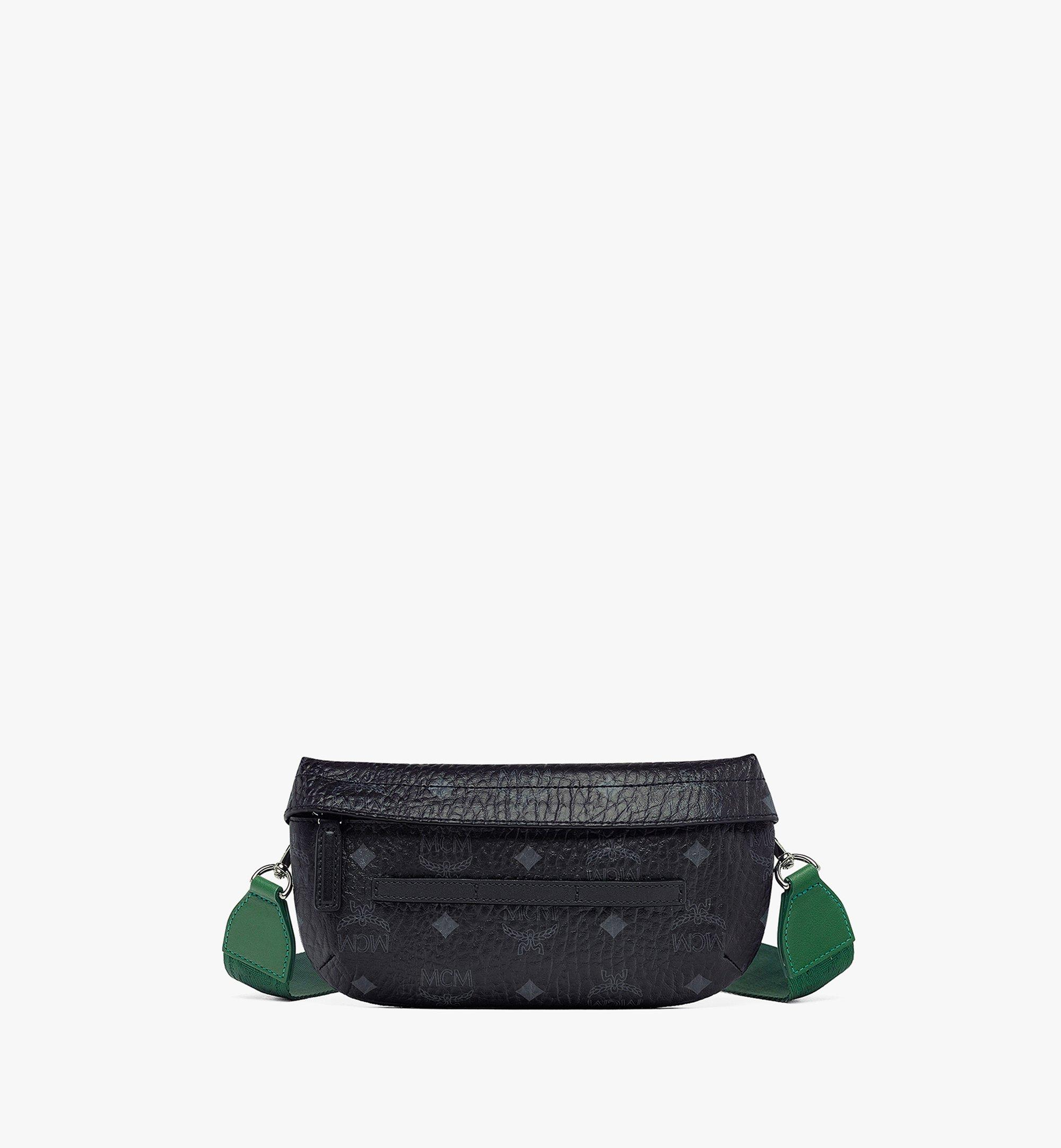 MCM Upcycling Project Crossbody in Visetos Black MMRBSUP01BK001 Alternate View 1
