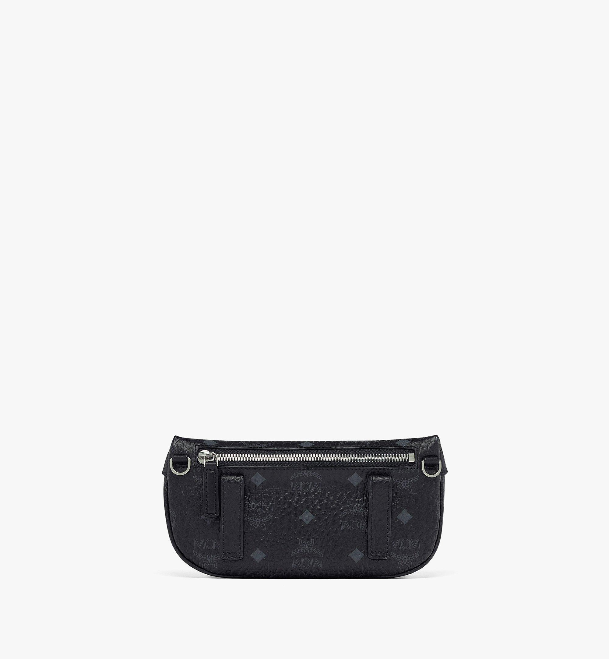 MCM Upcycling Project Crossbody in Visetos Black MMRBSUP01BK001 Alternate View 3