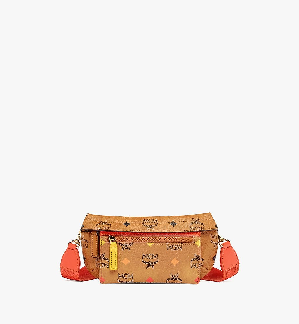 MCM Upcycling Project Crossbody in Visetos Cognac MMRBSUP01CO001 Alternate View 1