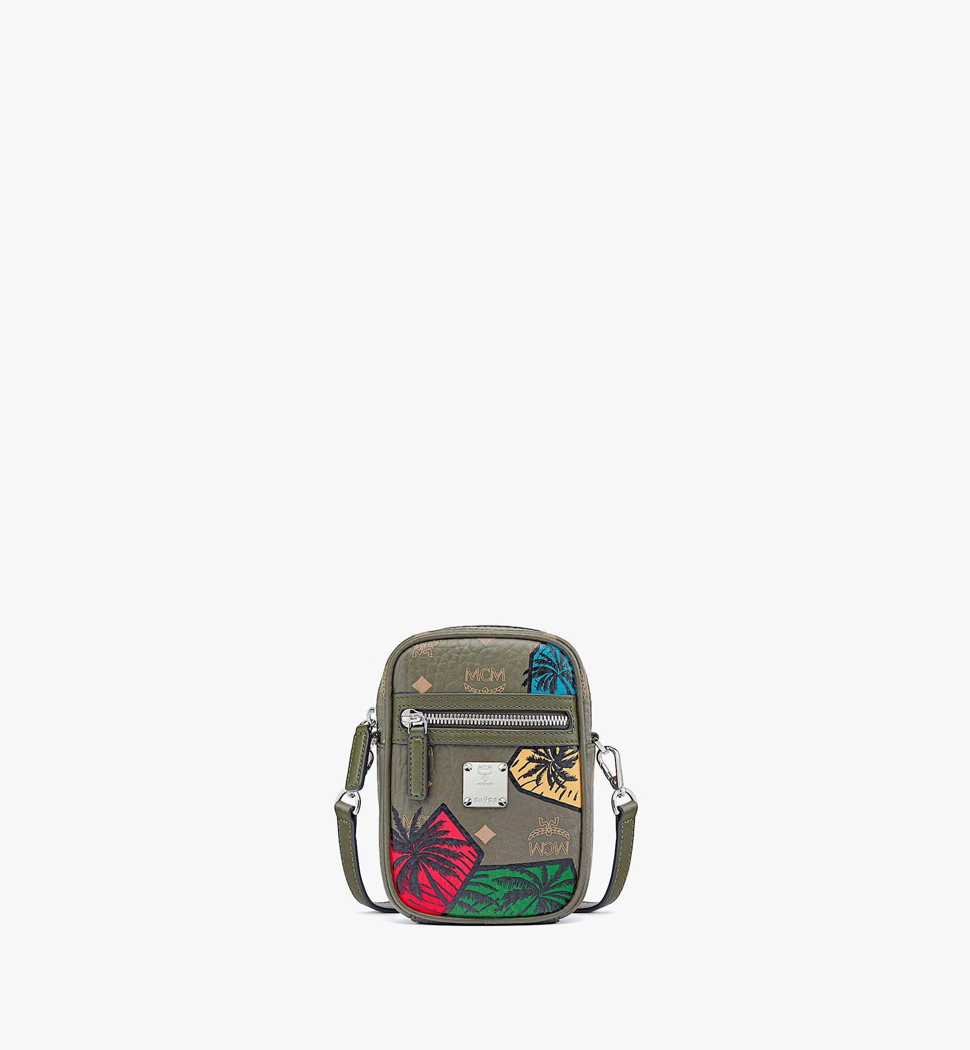 MCM Hawaii Upcycling Project Crossbody in Visetos Green MMRBSUP02JH001 Alternate View 1
