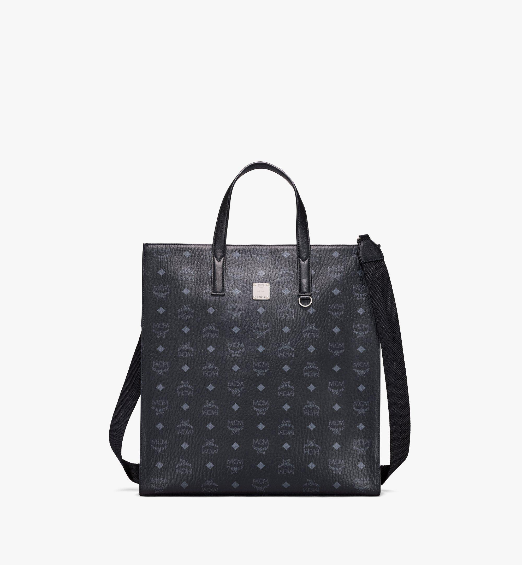 MCM Klassik Tote in Visetos Black MMTAAKC01BK001 Alternate View 1