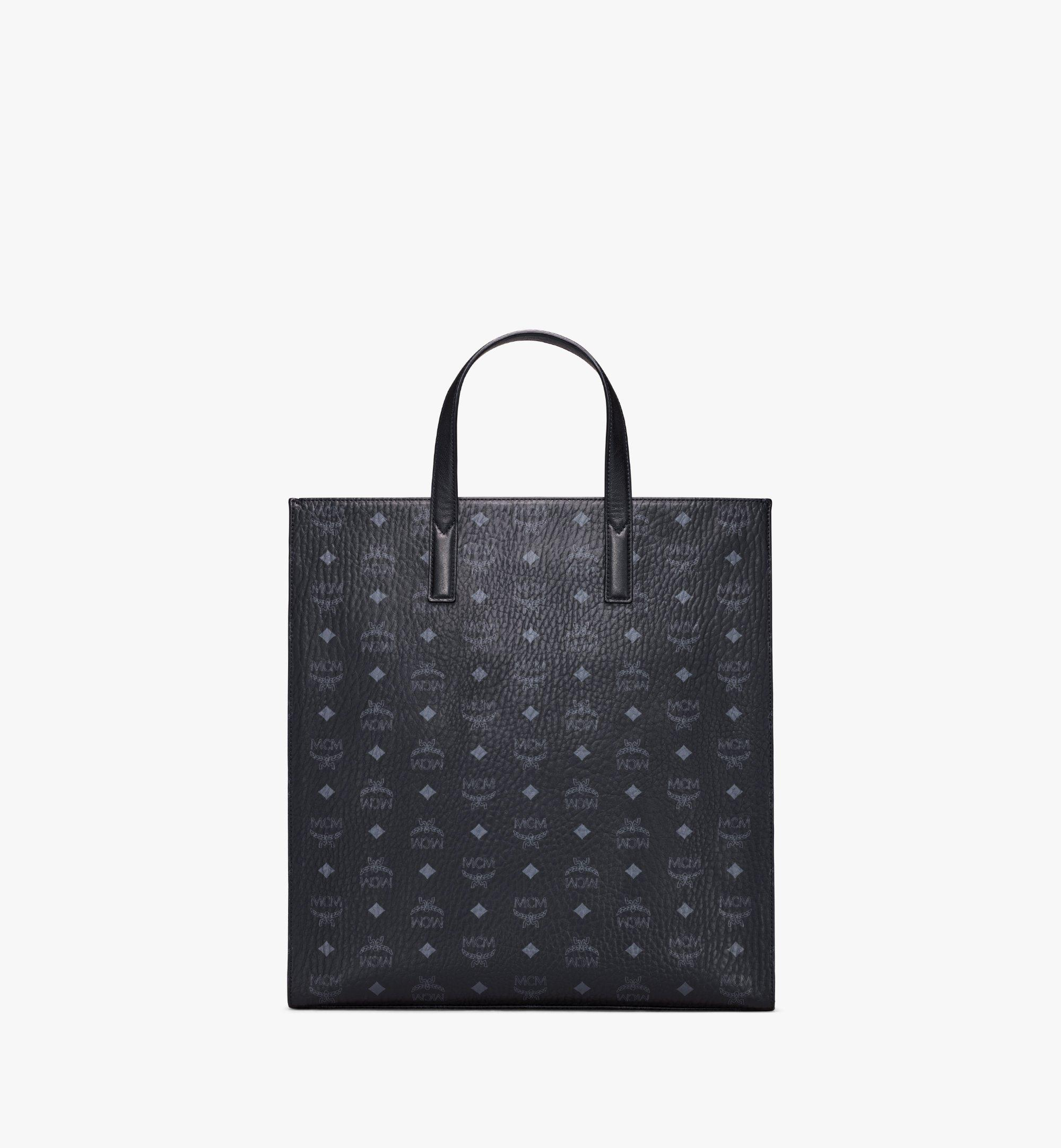 MCM Klassik Tote in Visetos Black MMTAAKC01BK001 Alternate View 4