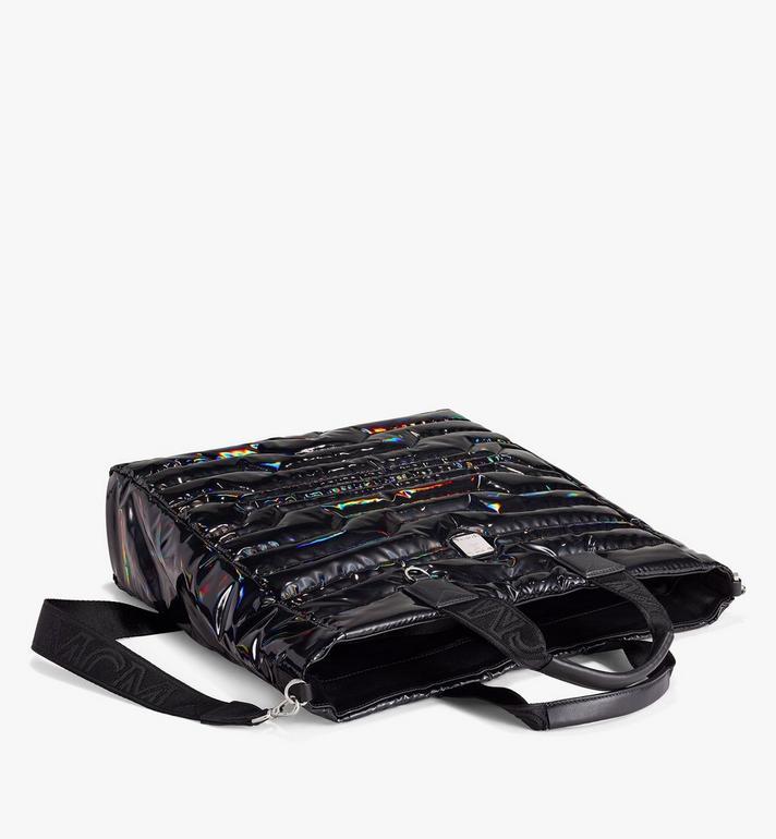 MCM Klassik Tote in Tec-Quilt Fabric Black MMTAAKC03BK001 Alternate View 3