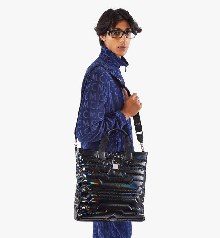 MCM Klassik Tote in Tec-Quilt Fabric Black MMTAAKC03BK001 Alternate View 8