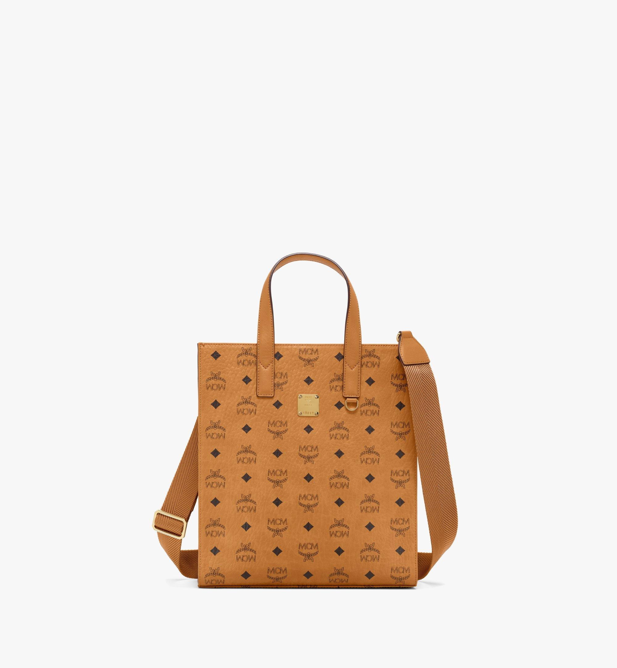 MCM Klassik Tote in Visetos Cognac MMTAAKC06CO001 Alternate View 1