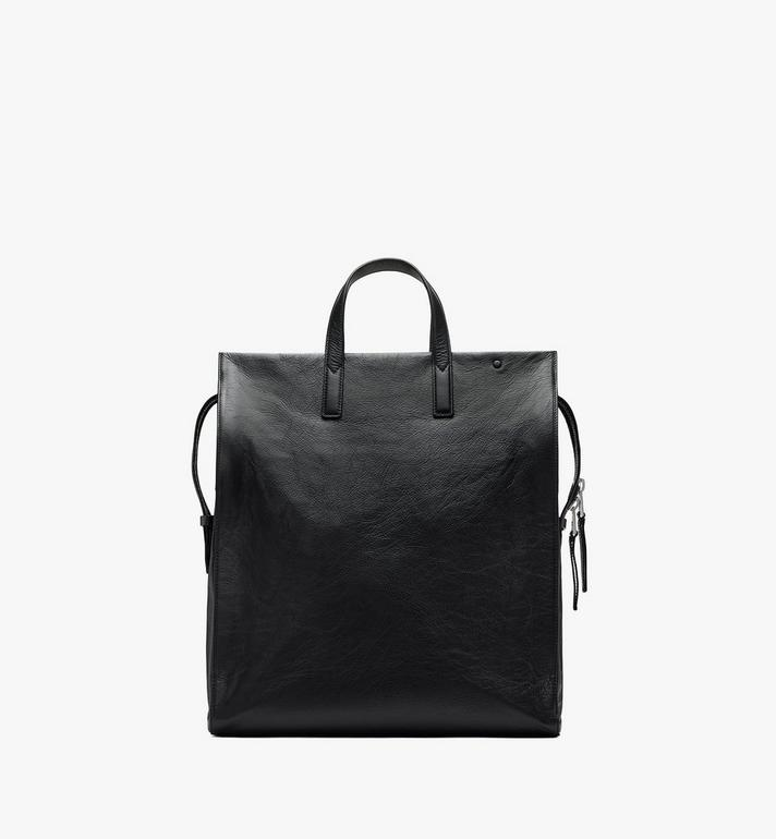 MCM Klassik Tote in Crushed Leather Black MMTASKC01BK001 Alternate View 3