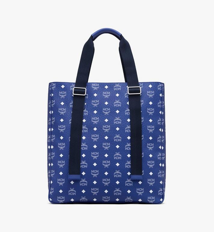 MCM Klassik Tote in Visetos Blue MMTASKC03H1001 Alternate View 3