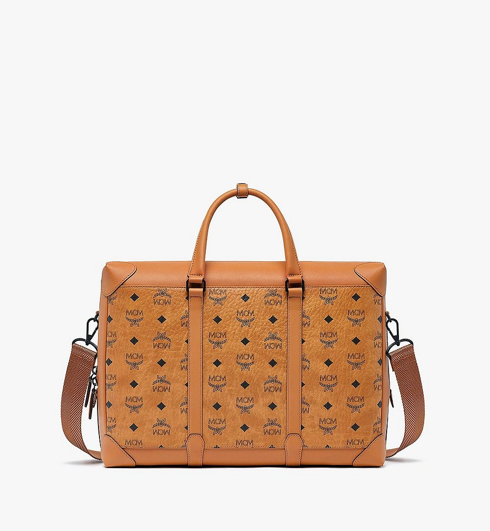 MCM Soft Berlin Tote in Visetos Cognac MMTBSBF01CO001 Alternate View 1