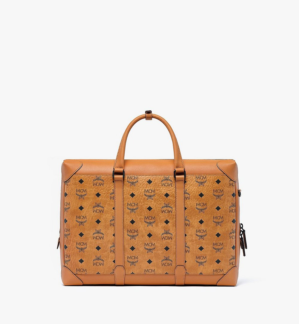 MCM Soft Berlin Tote in Visetos Cognac MMTBSBF01CO001 Alternate View 3