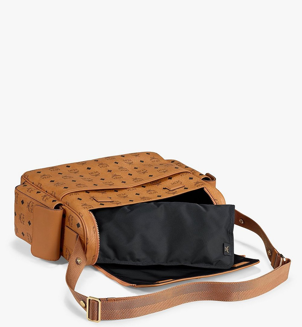 MCM Klassik Diaper Bag in Visetos Cognac MMVAAKC01CO001 Alternate View 2