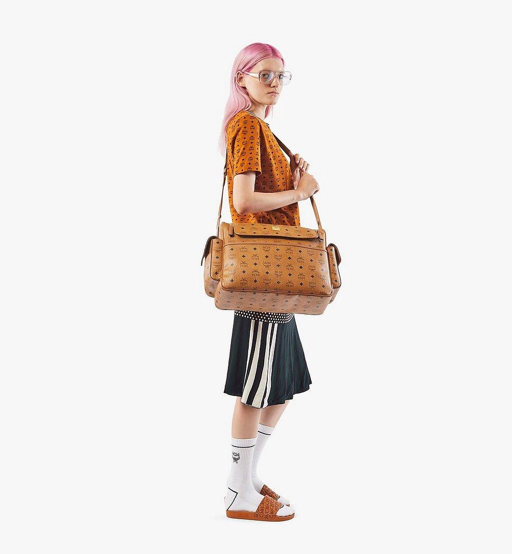 MCM Klassik Diaper Bag in Visetos Cognac MMVAAKC01CO001 Alternate View 3