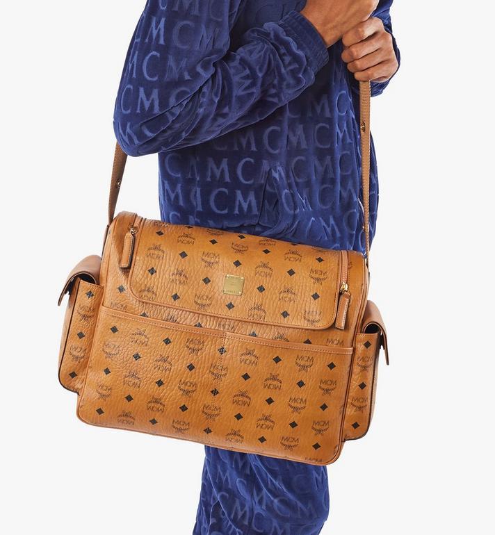 MCM Klassik Diaper Bag in Visetos Cognac MMVAAKC01CO001 Alternate View 8