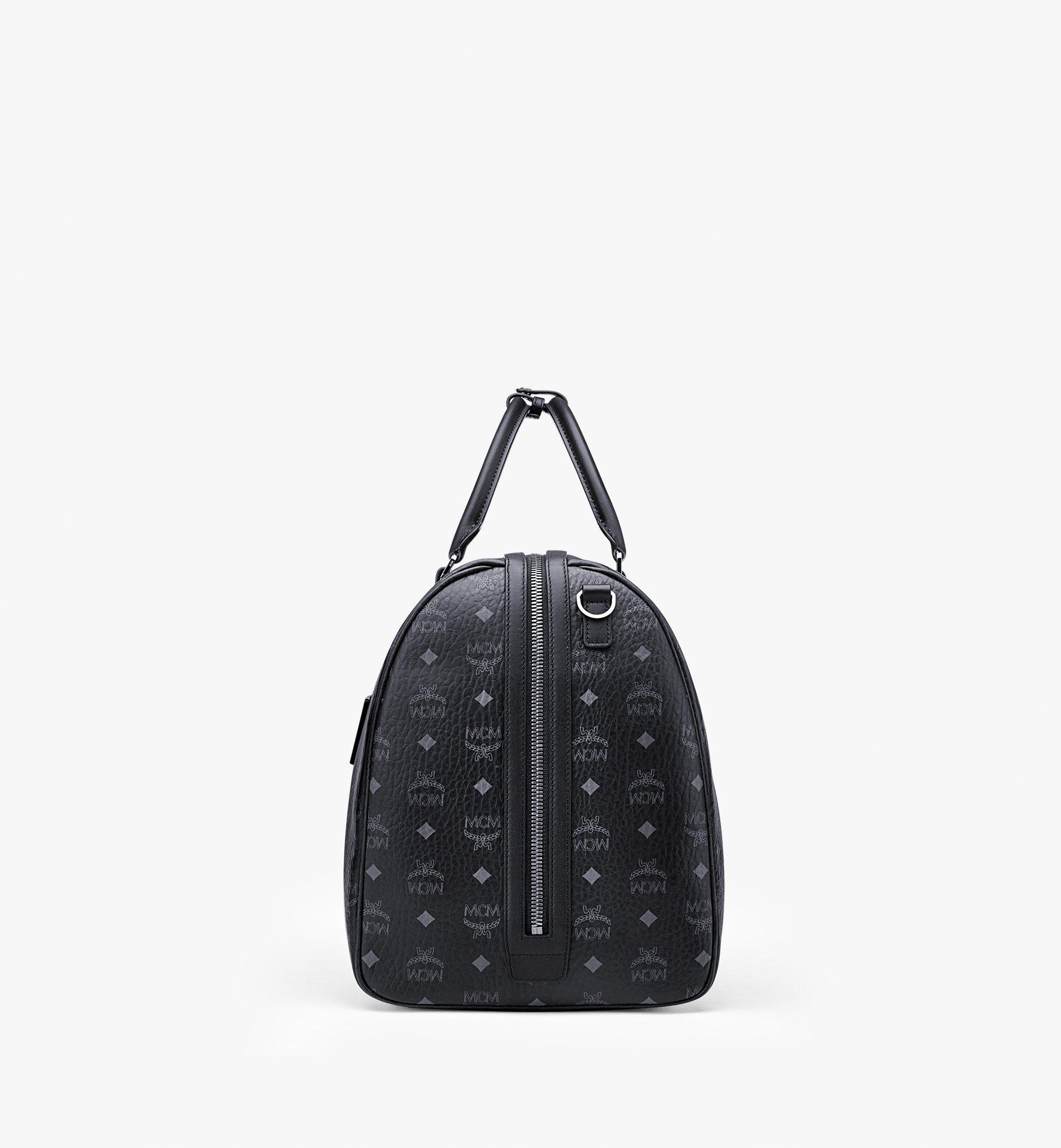 MCM Traveler Weekender Bag in Visetos Black MMVAAVY01BK001 Alternate View 1