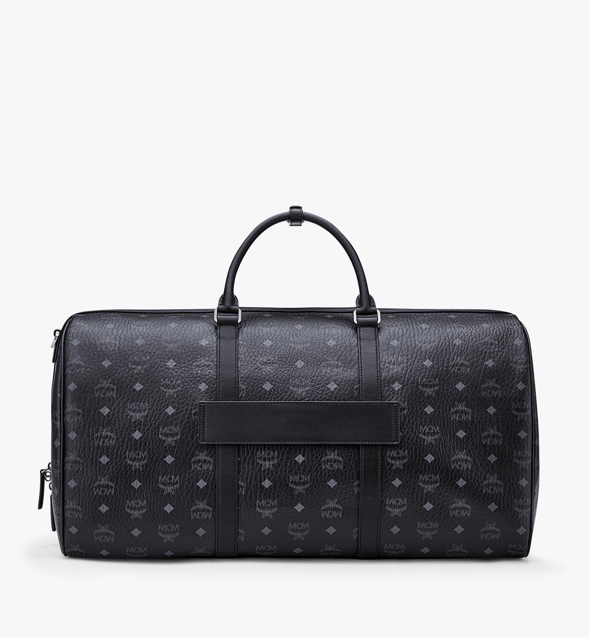 MCM Traveler Weekender Bag in Visetos Black MMVAAVY01BK001 Alternate View 3