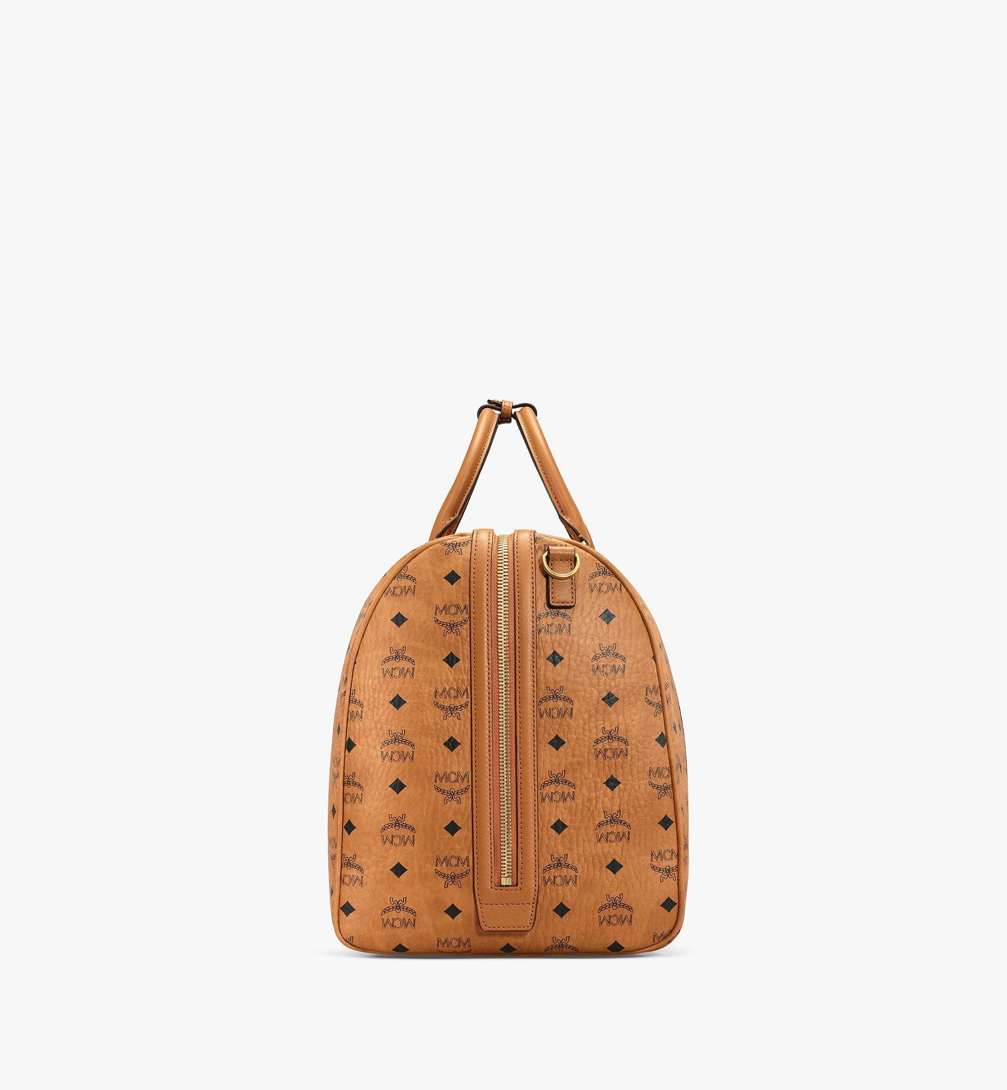 MCM Traveler Weekender Bag in Visetos Cognac MMVAAVY01CO001 Alternate View 1