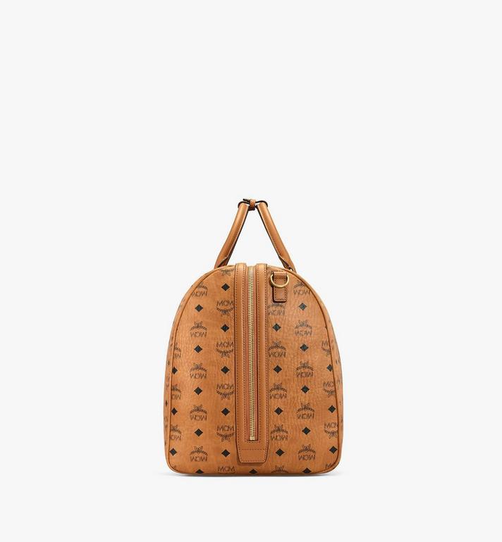 MCM Traveler Weekender Bag in Visetos Cognac MMVAAVY01CO001 Alternate View 2