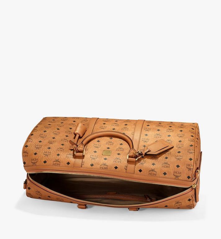 MCM Traveler Weekender Bag in Visetos Cognac MMVAAVY01CO001 Alternate View 3