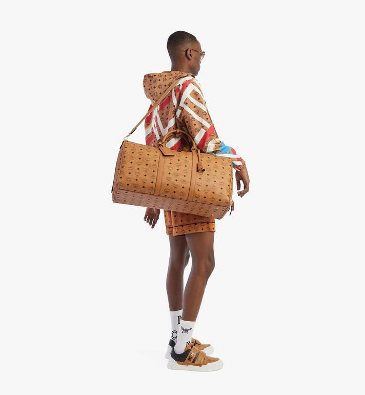 MCM Traveler Weekender Bag in Visetos Cognac MMVAAVY01CO001 Alternate View 5