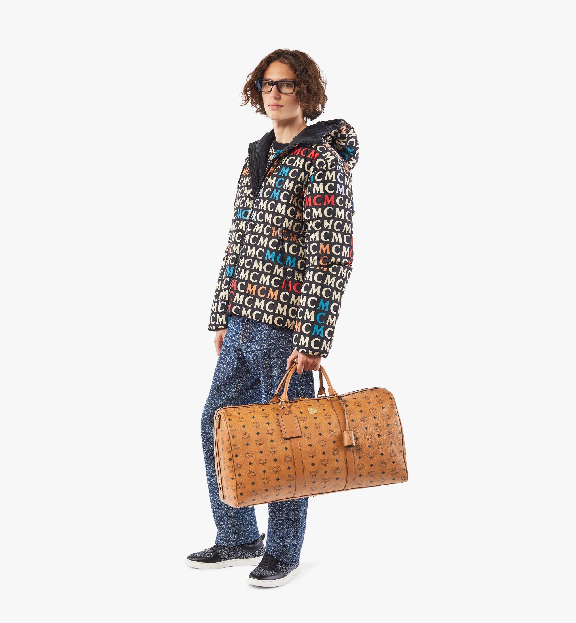 MCM Traveler Weekender Bag in Visetos Cognac MMVAAVY01CO001 Alternate View 4