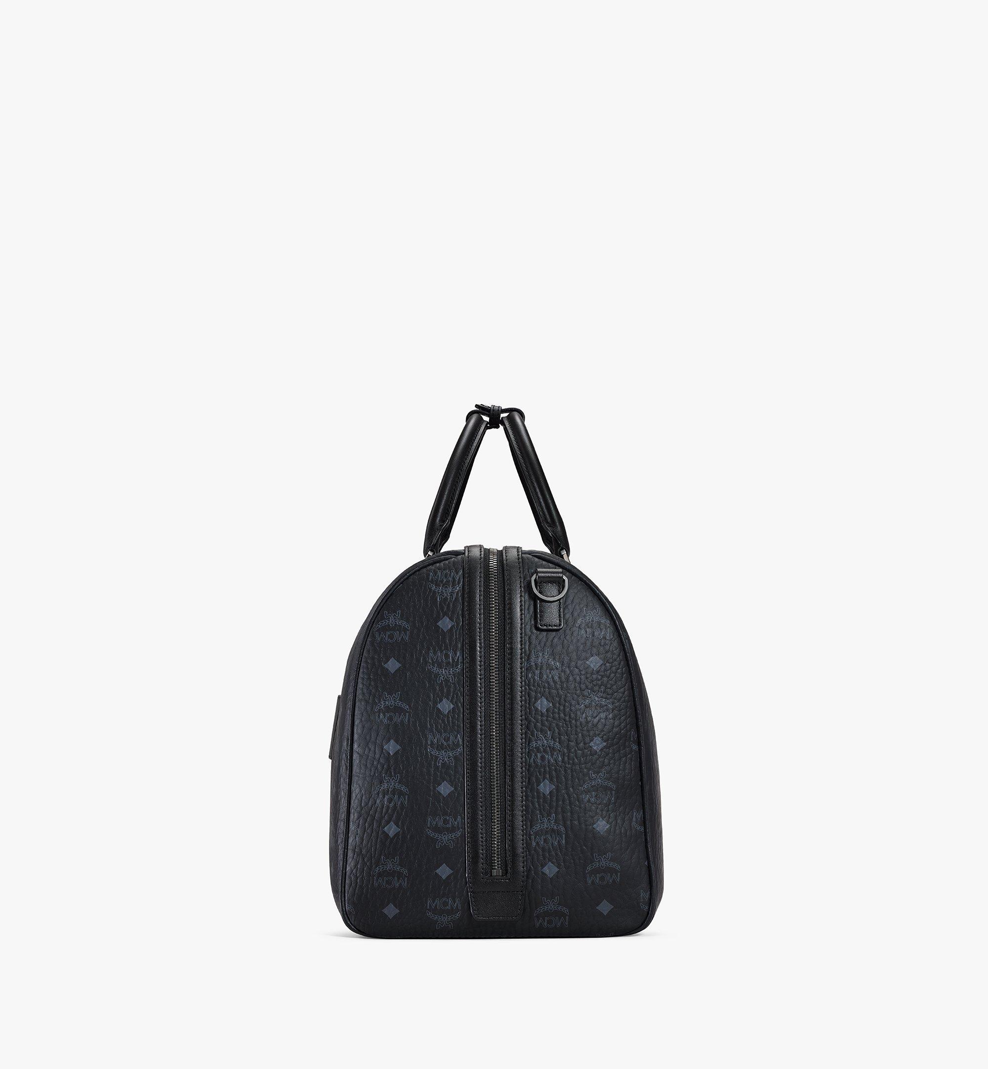 MCM Traveler Weekender Bag in Visetos Black MMVAAVY02BK001 Alternate View 1