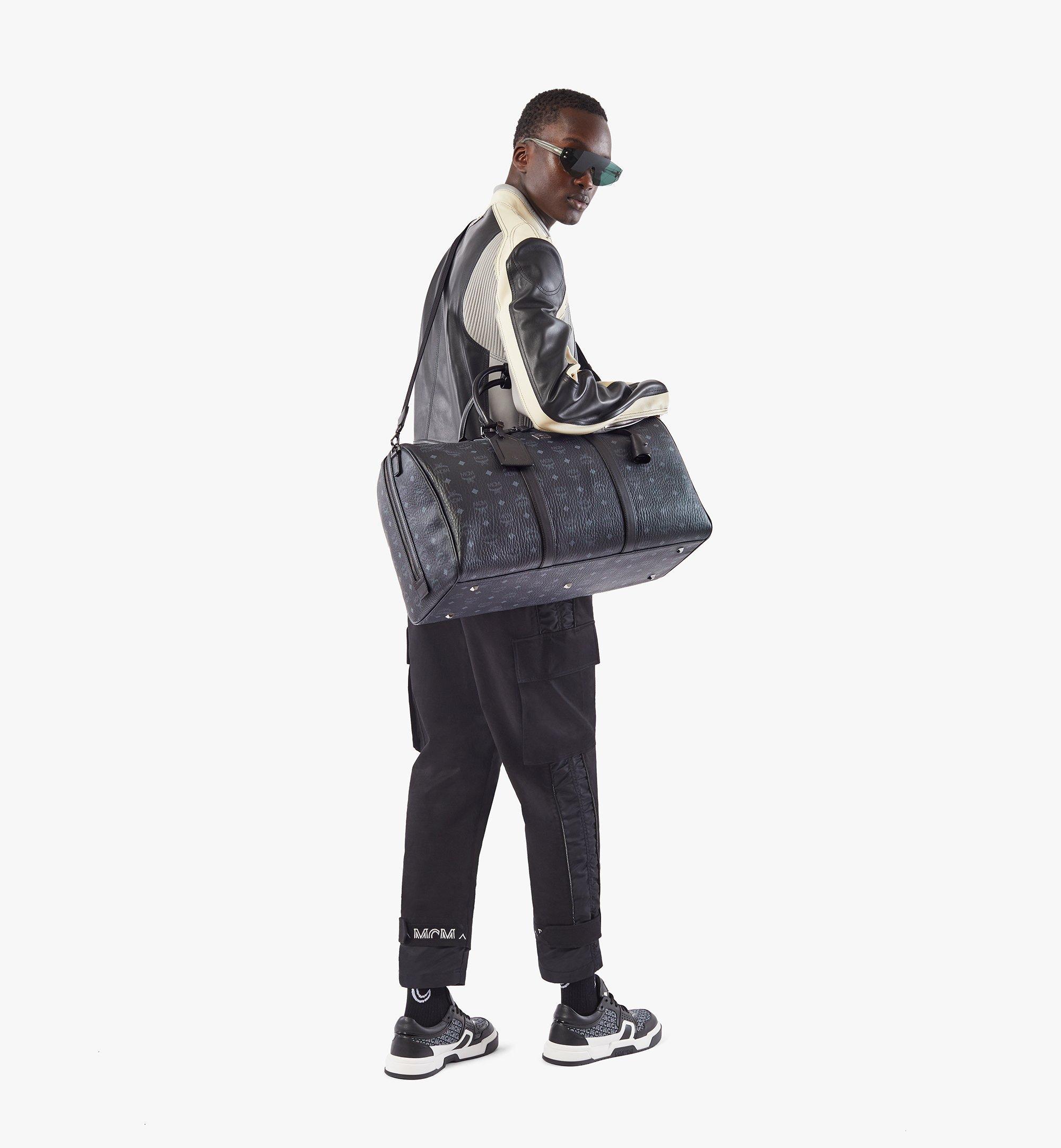 MCM Traveler Weekender Bag in Visetos Black MMVAAVY02BK001 Alternate View 3