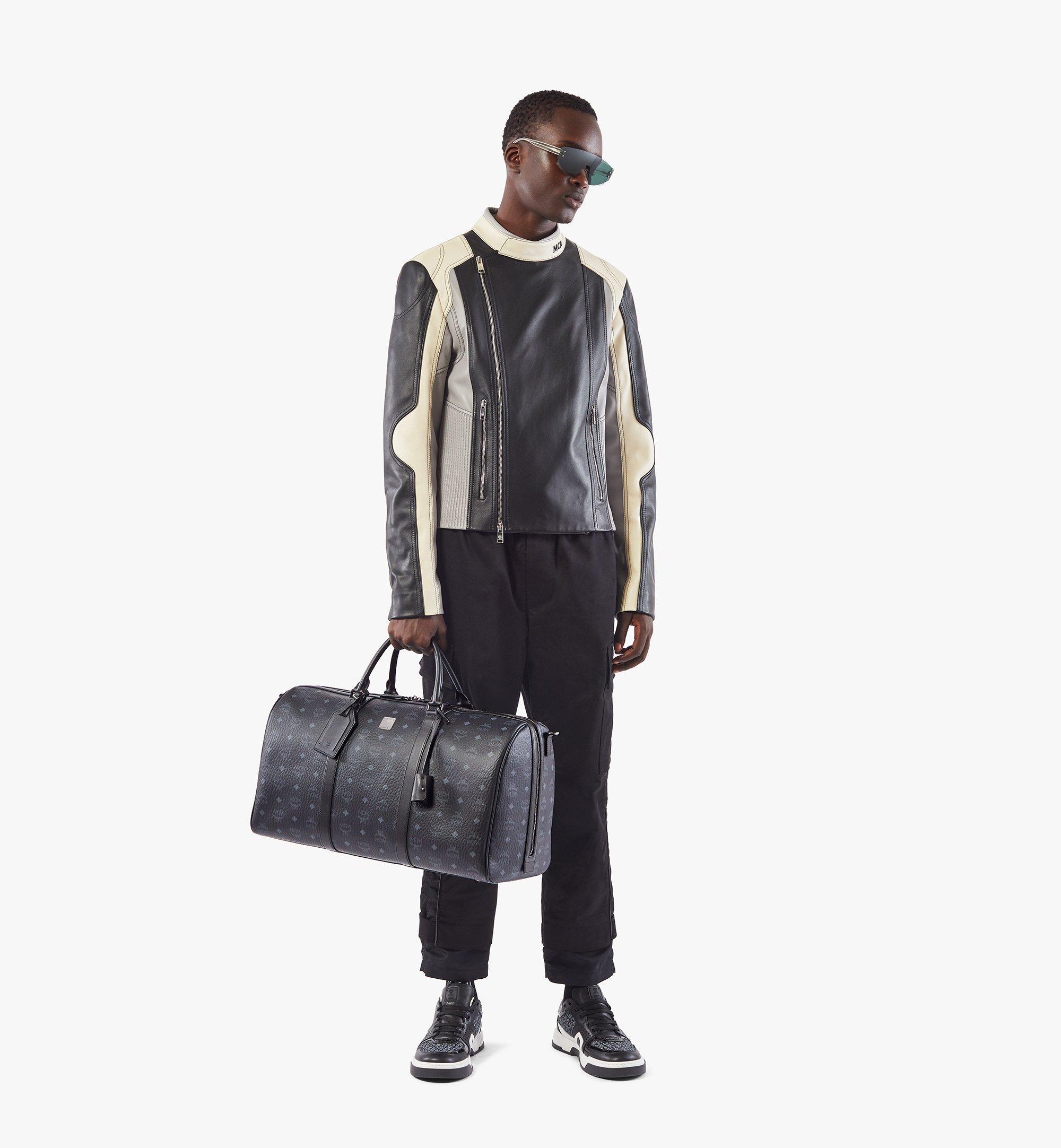 MCM Traveler Weekender Bag in Visetos Black MMVAAVY02BK001 Alternate View 4