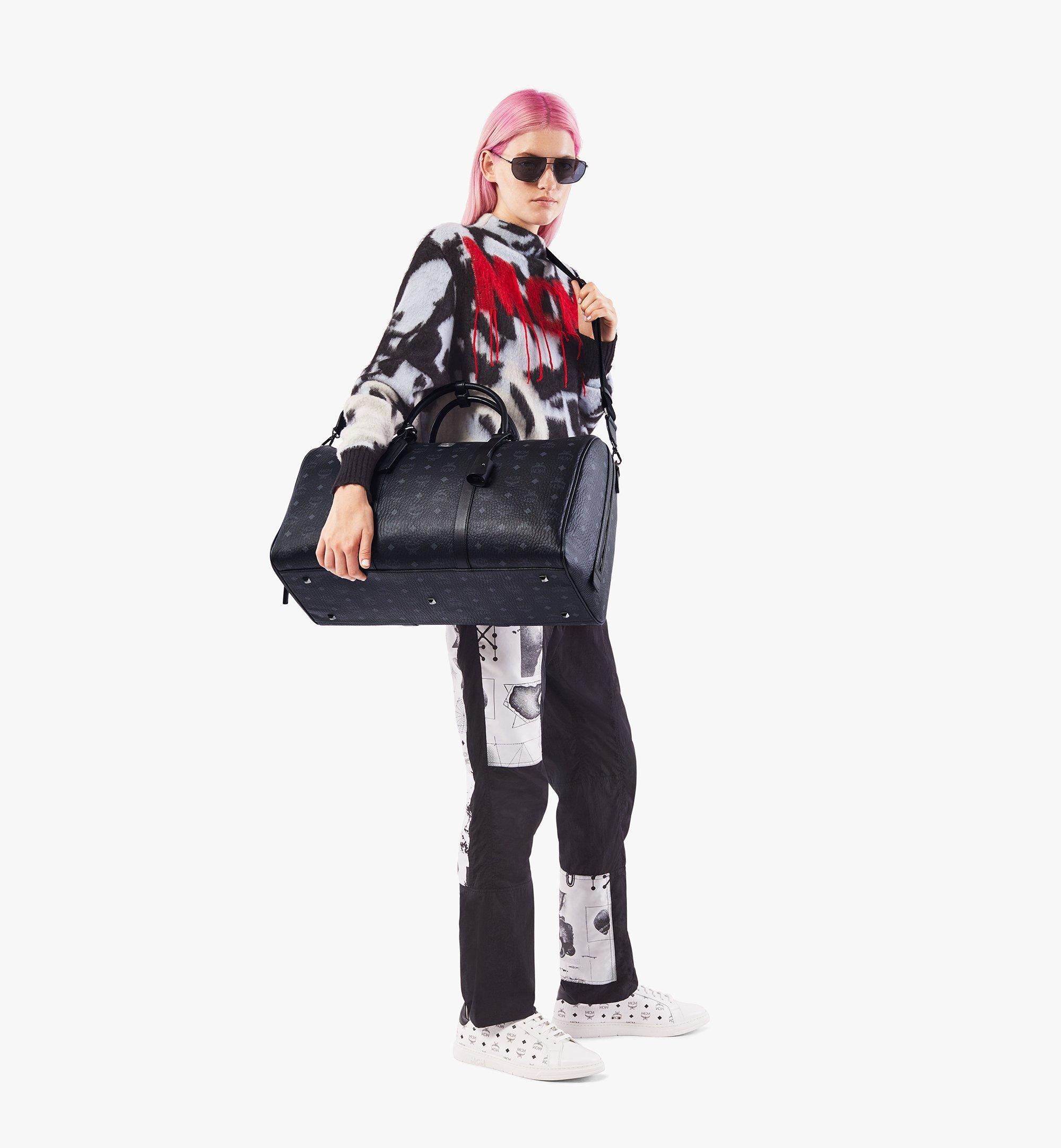 MCM Traveler Weekender Bag in Visetos Black MMVAAVY02BK001 Alternate View 5