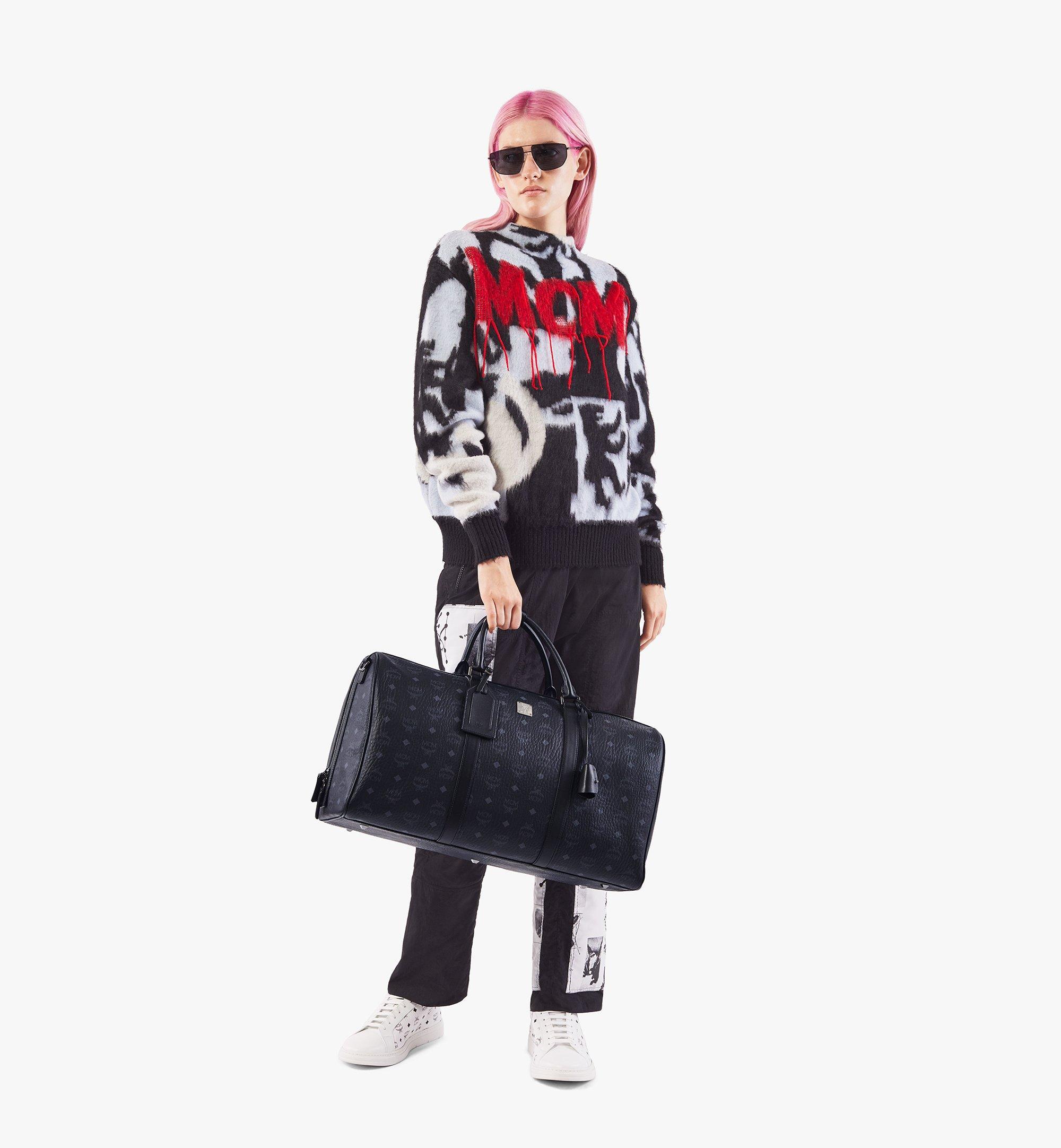 MCM Traveler Weekender Bag in Visetos Black MMVAAVY02BK001 Alternate View 6