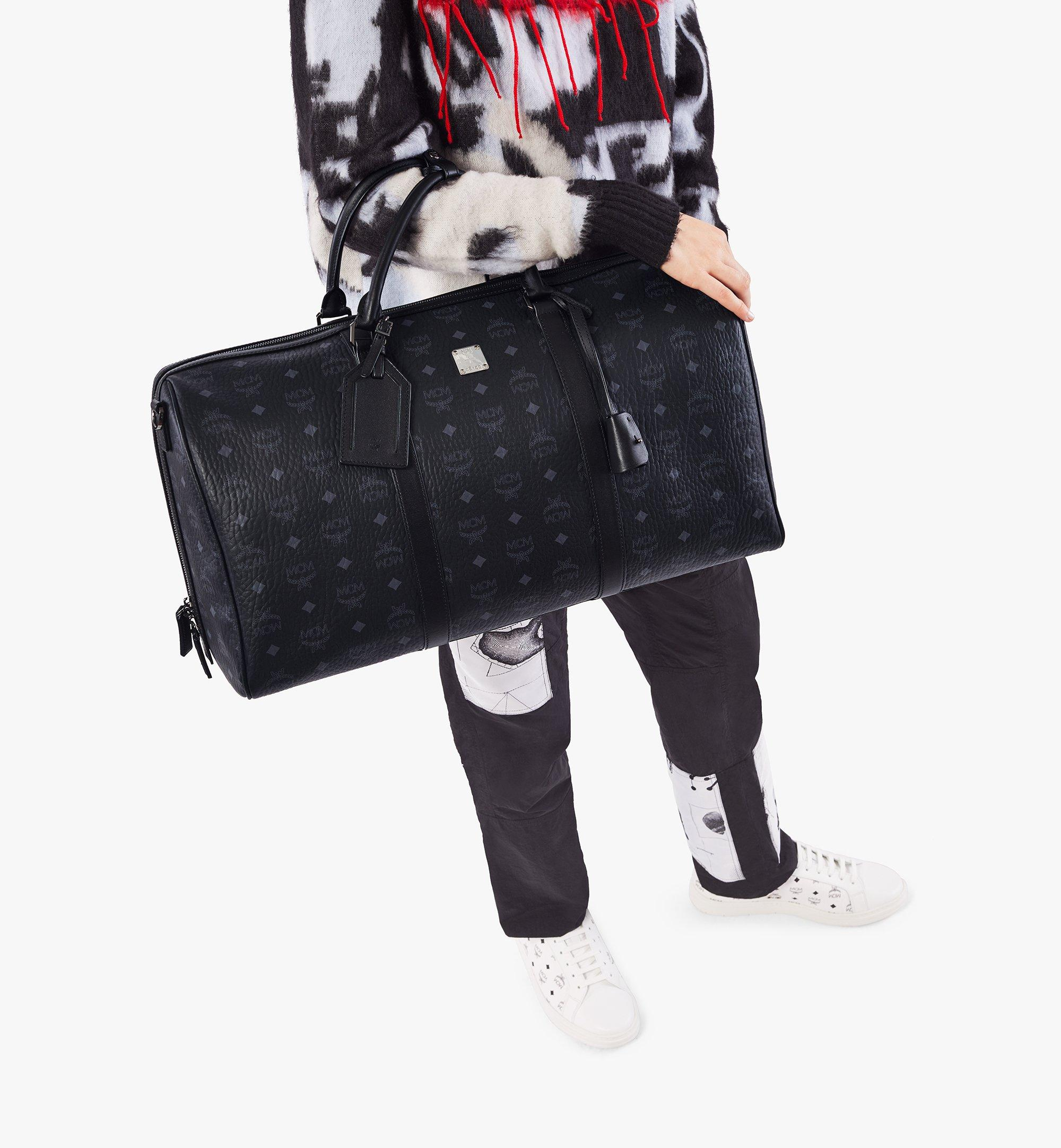 MCM Traveler Weekender Bag in Visetos Black MMVAAVY02BK001 Alternate View 2