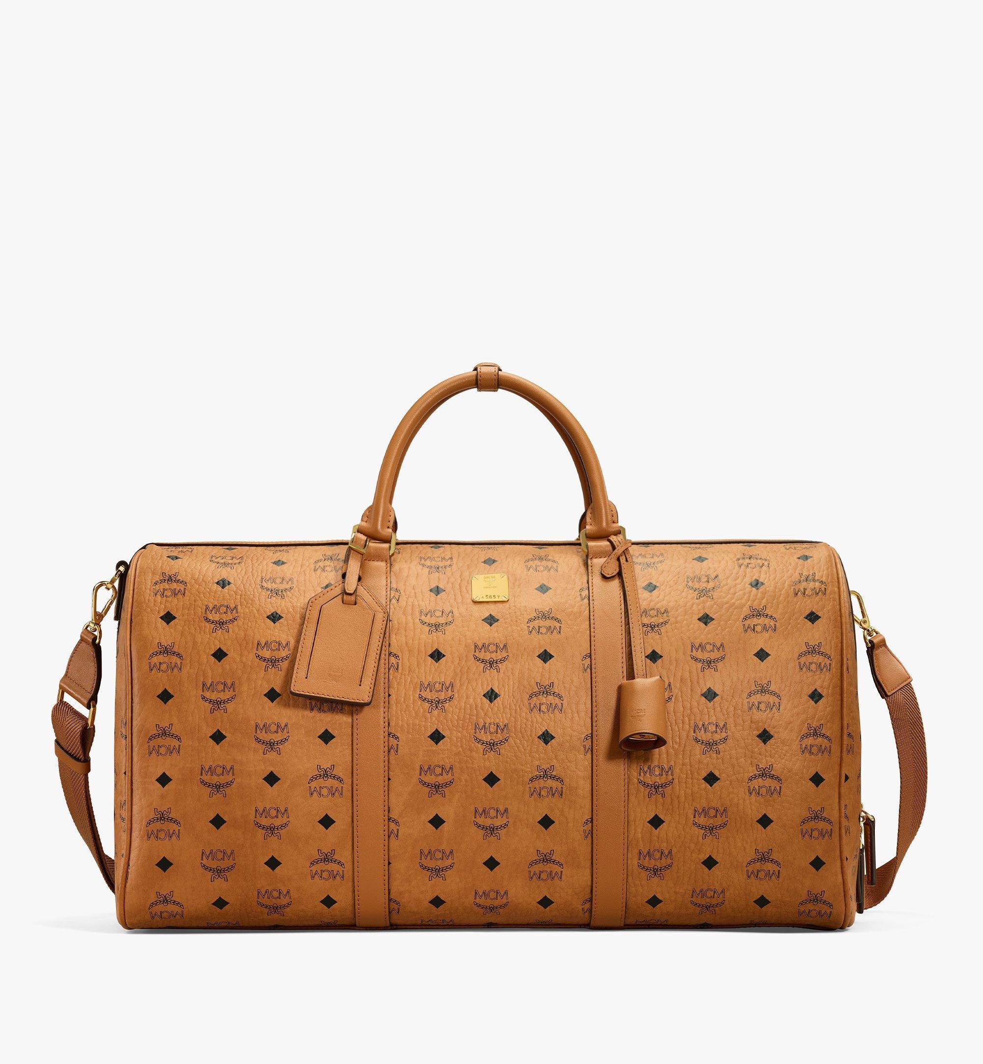 MCM Traveler Weekender Bag in Visetos Cognac MMVAAVY02CO001 Alternate View 1